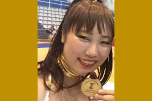 一輪車世界選手権優勝の阿部祐菜さん